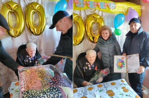 В Авдеевке поздравили ветерана со 100-летним юбилеем (ФОТОФАКТ), фото-1