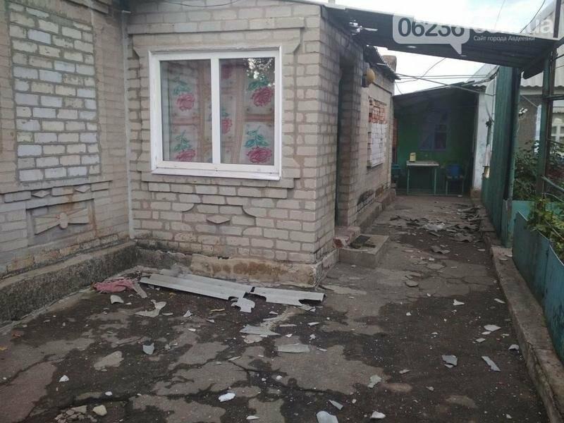 Авдеевка вновь попала под огонь боевиков: разрушены дома, фото-1