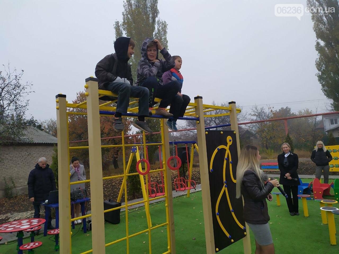 В  Авдеевке состоялось праздничное открытие большой детской площадки , фото-4
