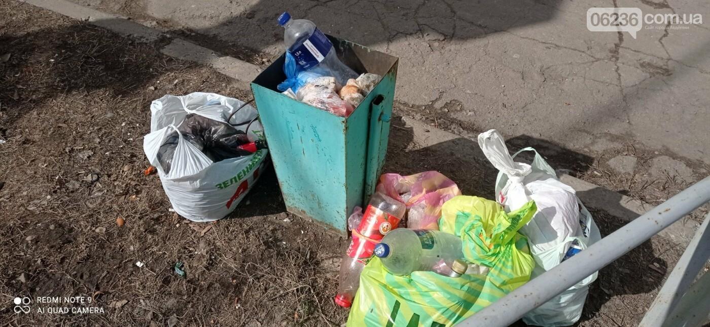 Пока в Авдеевке убирают мусорные баки с центральных улиц города, местные жители находят новые способы избавления от мусора, фото-1